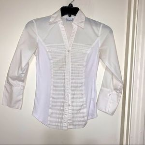 White Kim Rodgers Button Up Shirt